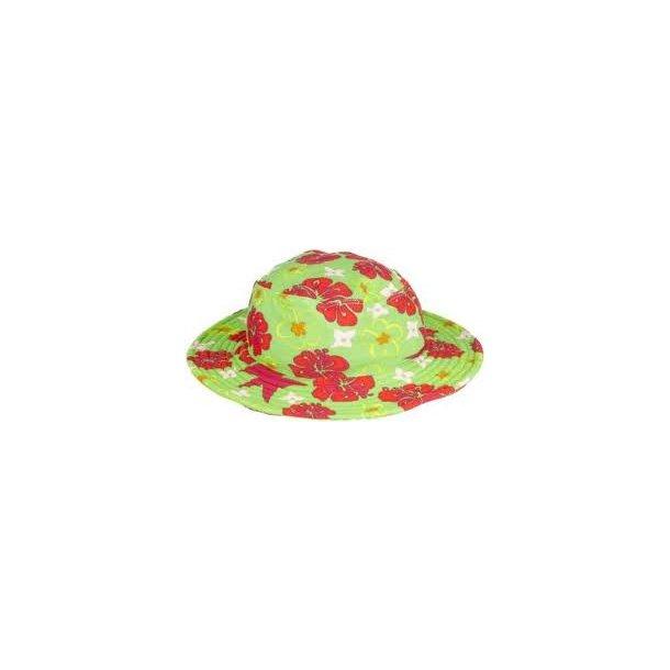 Playshoes solhatt grønn med blomster