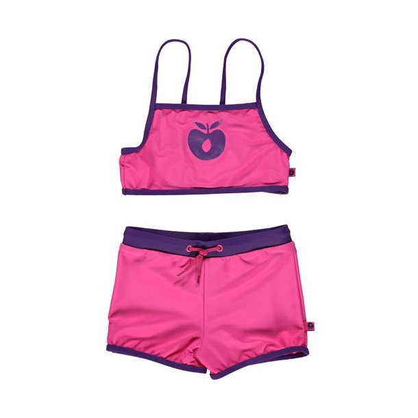 Bikini Småfolk Hipster Solid Pink UPF 50+