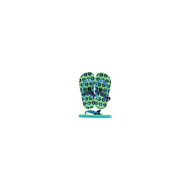 Småfolk Flip flops med äpplen grön/blå/turkos