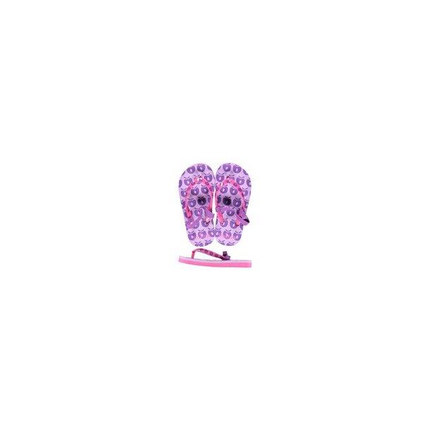 Småfolk Flip flops med äpplen lila/rosa