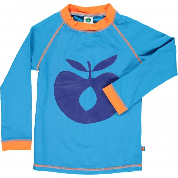 Langærmet t-shirt turkis Småfolk UPF 50+