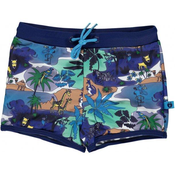 Småfolk badbtxor djungel blå UPF 50+