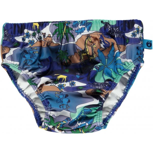 Blöjbadbyxor Småfolk djungel blå UPF 50+