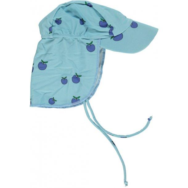 Solhat Småfolk blå med æbler UPF50+
