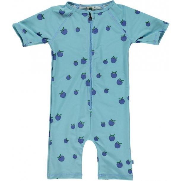 Småfolk uv badetøj air blue med æbler UPF 50+