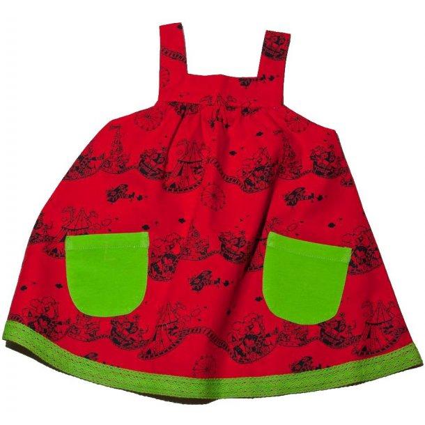 3b346f2b23a Sød rød sommerkjole fra Snoozy - Kvalitets børnetøj