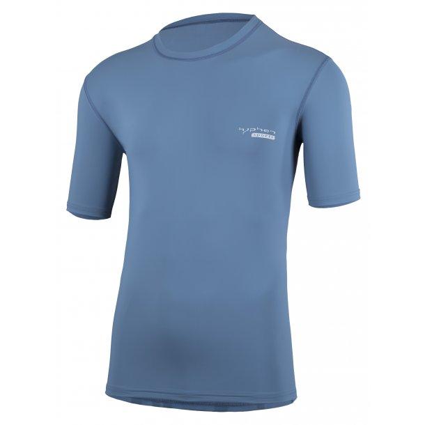 Uv bluse Hyphen Pali stone blue UPF 80+ voksen