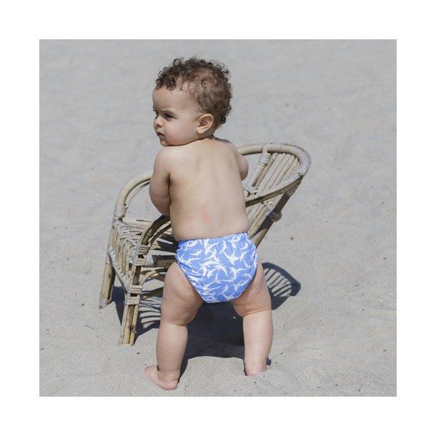 Blöjbadbyxor från Petit Crabe boy, sky dolphin