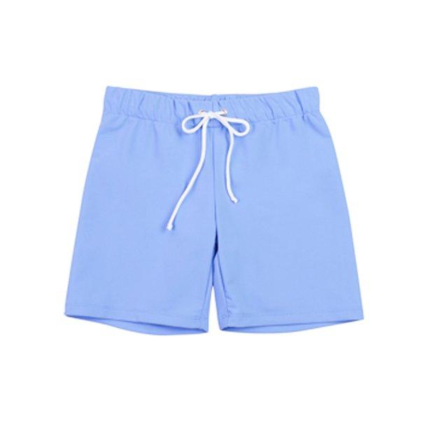 Shorts, korte med elastik og bindesnor, Sky