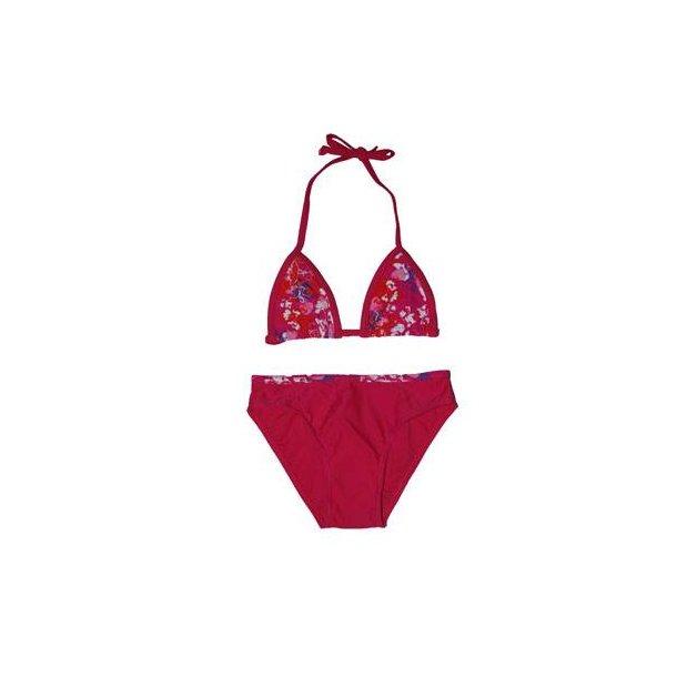 Pink bikini med flot skørt