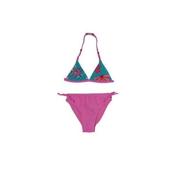 Pink bikini med turkis top