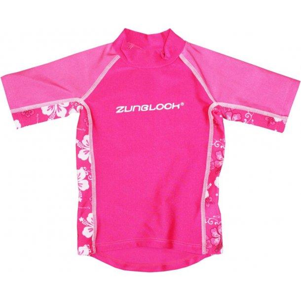 T-shirt med shorts i sockerrosa från Zunblock