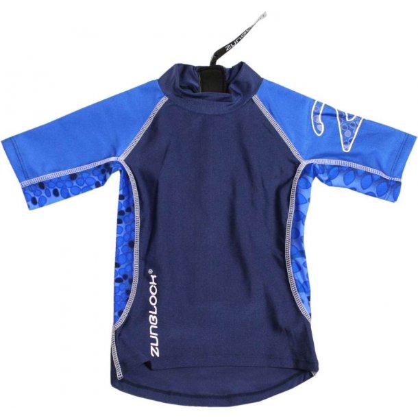 Uv badetøj (shorts og t-shirt) mørkeblå zunblock