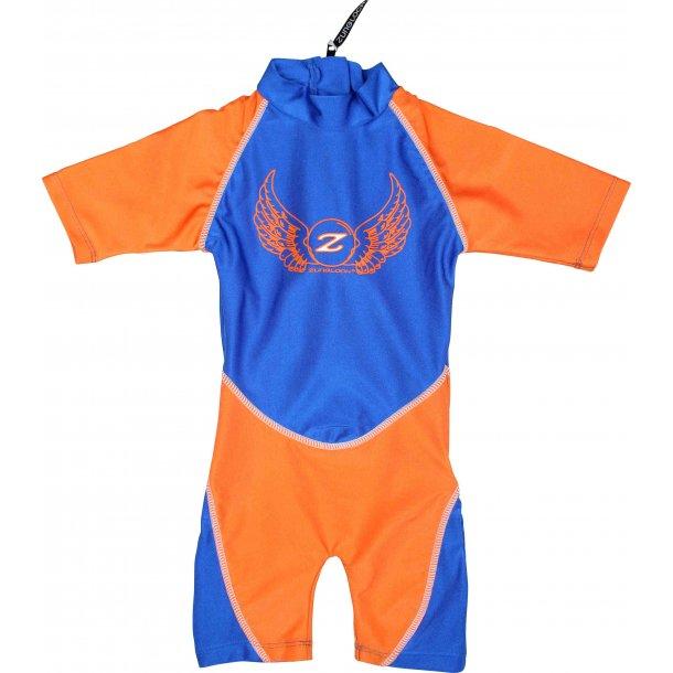 Heldräkt Zunblock blå/orange Rocky UPF 50+