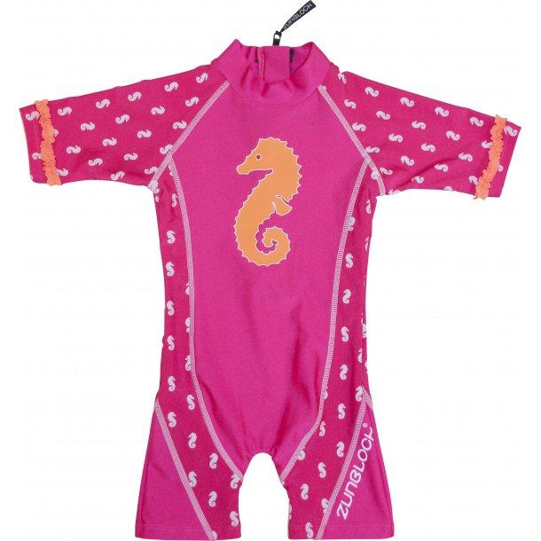UV-dräkt Pink seahorse Zunblock UPF 50+