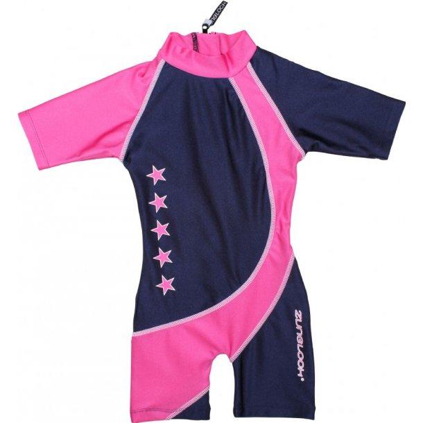 UV-dräkt navy/pink Zunblock UPF 50+