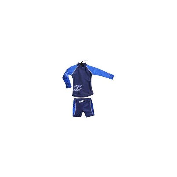 Marinblått/royal 2-delat UV-set från Zunblock