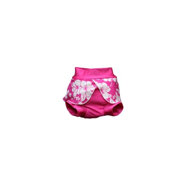 Zwimmies hibiscus - pink blebadebukser - zunblock