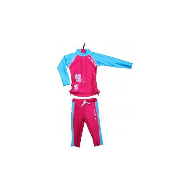 Langærmet bluse og leggings zunblock upf 50+