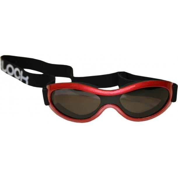 Solbriller med justerbar rem rød
