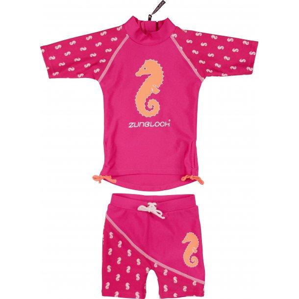 "Zunblock ""seahorse"" uv t-shirt + shorts rosa UPF 50+"