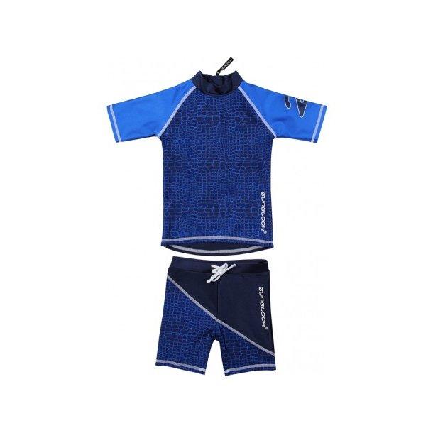 Uv badetøj (shorts og t-shirt) mørkeblå Zunblock Croco
