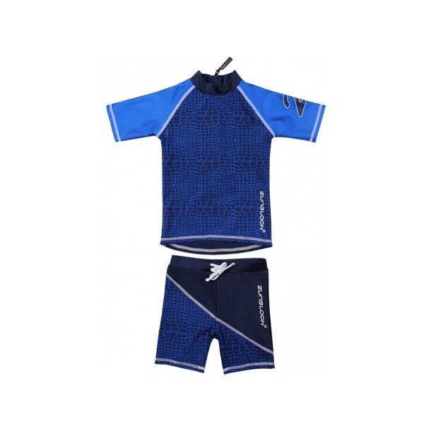 Uv badetøj (shorts og t-shirt) mörkblå Zunblock Croco