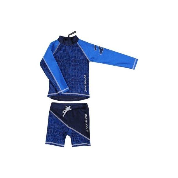 Uv badetøy - shorts og langermet trøje - Zunblock blå
